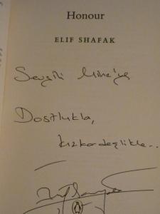 autograph Elif Shafak Honour